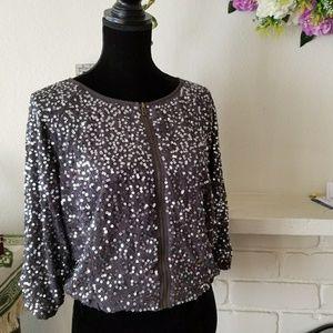Sparkle & Fade Crop Jacket Size S